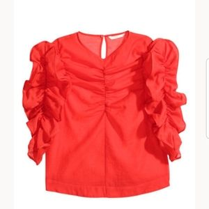 """Gorgeous """"Georgette"""" Rouched H&M Blouse"""
